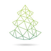 Christmas tree abstract isolated on a white backgrounds — Stock Vector