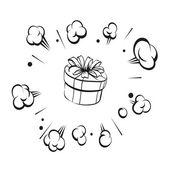 Boom present surprise, vector illustration — Vector de stock