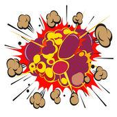 Boom komiksových exploze, vektorové ilustrace — Stock vektor