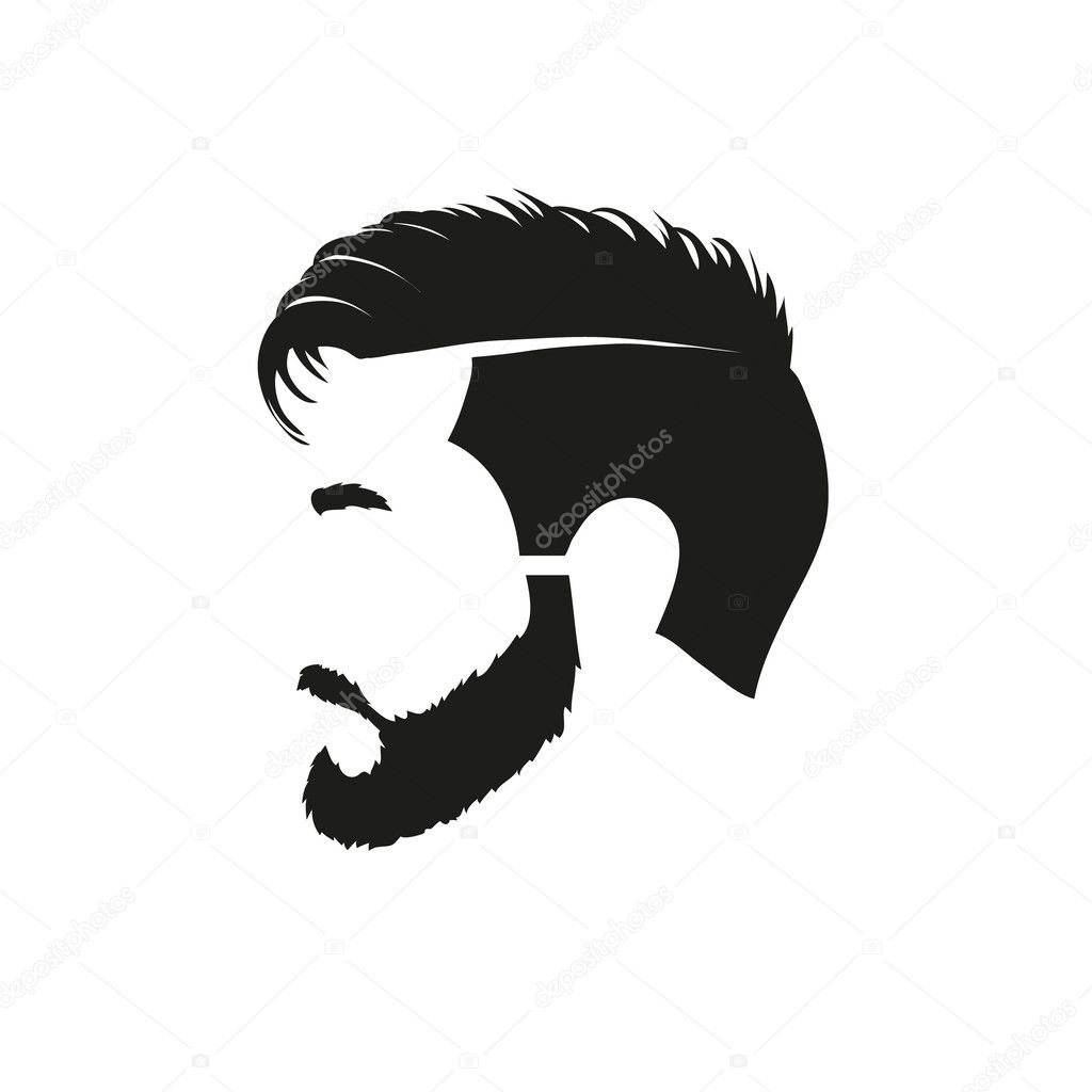 Hipster Beard Vector Fashion silhouette hipster