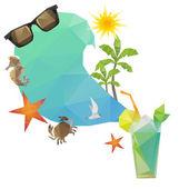 Backgrounds summer symbols — Stock Vector