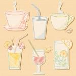 Drinks doodle. — Vector de stock  #21043859
