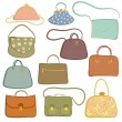 Stock Vector: Handbags.