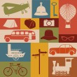 Travel icons - Stok Vektr