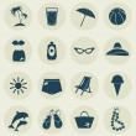 Beach icons. — Stock Vector