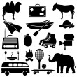 Recreation icons. — Stock Vector