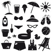 Beach icons. — Stock Vector