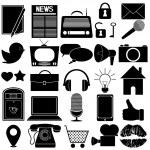 Social icons — Stock Vector