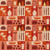 Iconos de picnic y barbacoa — Vector de stock