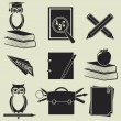 Education icons — Stock Vector #30132219