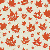 Sale background with leaves. — Vecteur