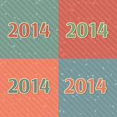 2014 card. — Stock Vector