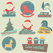 Christmas elements. — Vector de stock