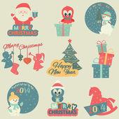 Vánoční prvky. — Stock vektor