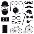 Hipster icons — Stock Vector