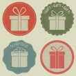 Gift boxes — Stock Vector