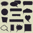 Speech bubbles — Image vectorielle