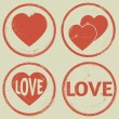 Stock Vector: Valentine's Day stamp