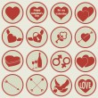 Valentine's Day Icons — Stock Vector #37749939