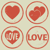 Valentine's Day stamp — Vector de stock