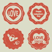 Valentine's Day labels — Stock Vector