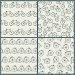 Stock Vector: Bicycle Seamless Pattern