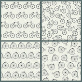 Bicycle Seamless Pattern — Stock Vector