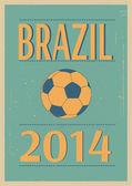 Fútbol brasileño. — Vector de stock