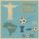 Brazilian soccer poster. — Stock Vector #46605367