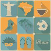 Brazil icons. — Stockvektor