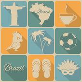 Brazil icons. — Stock Vector