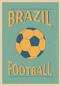 Brazilian football. — Stock Vector