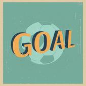 Goal  football poster. — Stock Vector