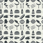 BBQ seamless pattern. — Stock Vector