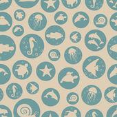 Marine life pattern. — Stock Vector