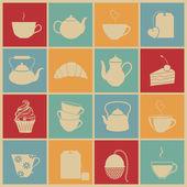 Tea icons. — Stock Vector