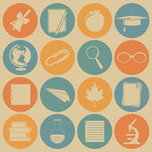 Education icons. — Stock Vector