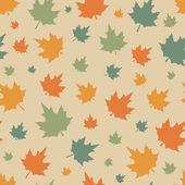 Modèle sans couture avec feuilles. — Vecteur