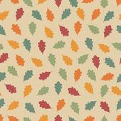 Padrão sem emenda com folhas. — Vetorial Stock