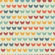 Seamless pattern with butterflies. — Stock Vector #50793767