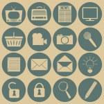 Social media icons. — Stock Vector #50793863