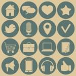 Social media icons. — Stock Vector #50793867