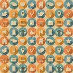 sociala medier seamless mönster — Stockvektor