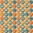 Social media seamless pattern. — Stock vektor