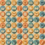 ソーシャル メディアのシームレスなパターン — ストックベクタ