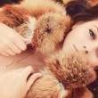 Royalty-Free Stock Photo: Beautiful yound woman in fur