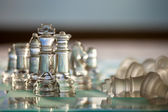 Chess King and Pieces - business concept series - strategy, strength, win, success, checkmate! — Stock Photo
