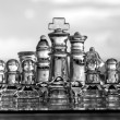 Chess Pieces / Set on chess board - as business concept series. — Stock Photo