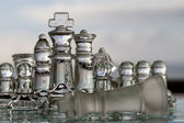Chess Pieces / Set - as business concept series - competition, win, game over, checkmate. — Stock Photo