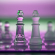 Chess Kings - business concept series - competition, merge, s — Stock Photo